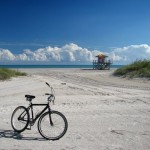Key Biscayne beach bycicle
